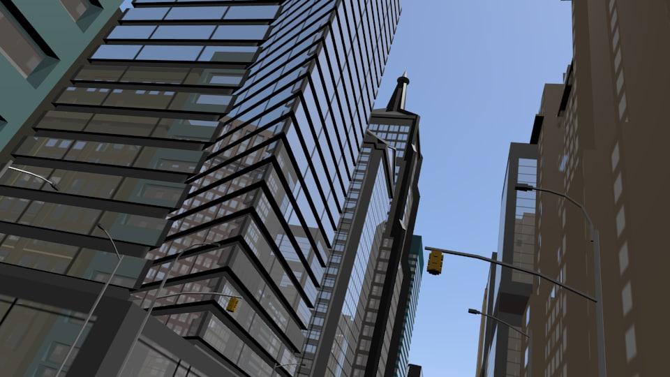 city cityscape 3ds