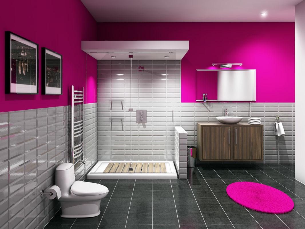 3ds max bathroom room