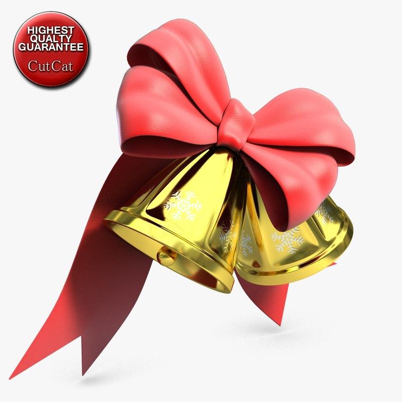 bells bow 3d 3ds