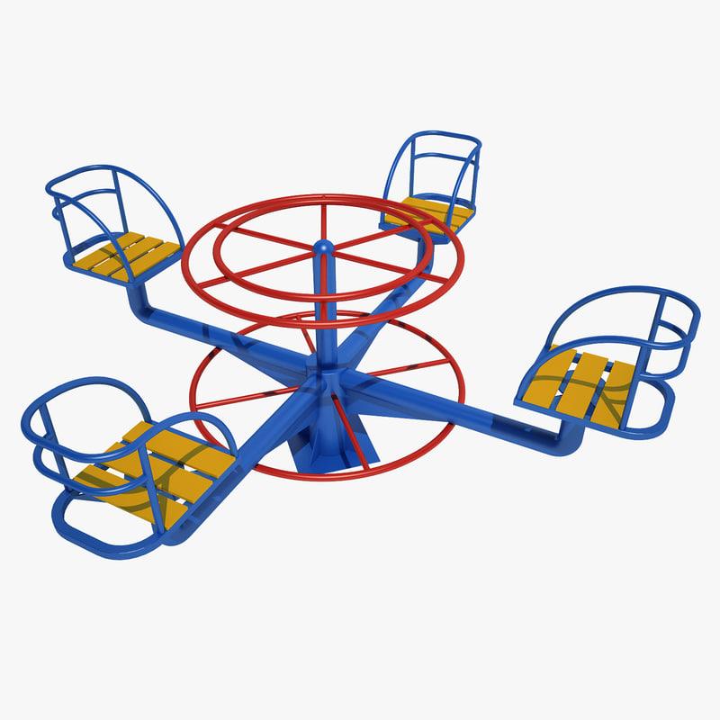 carousel child 3d model