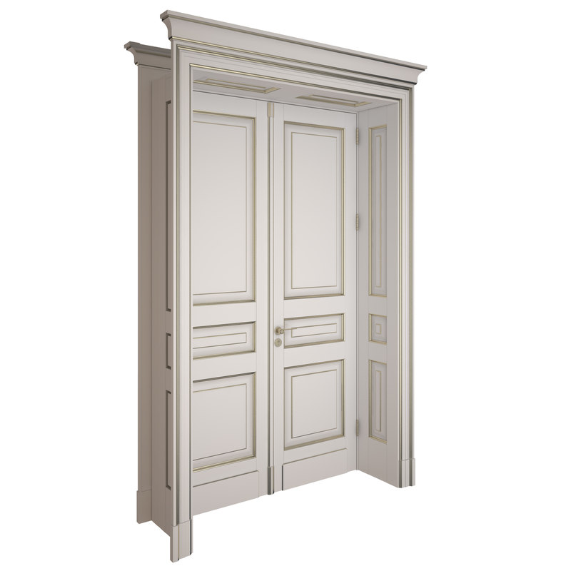 3d model of door classic