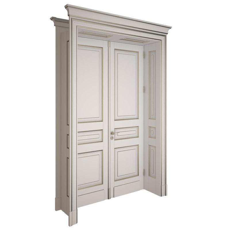 3d model of door classic for Door 3d model
