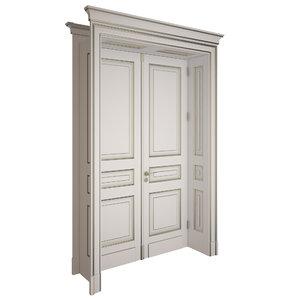 3d model of door classic