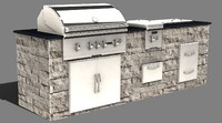 3d backyard island model
