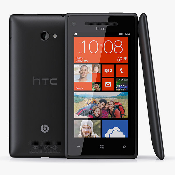 windows phone 8x htc 3d model