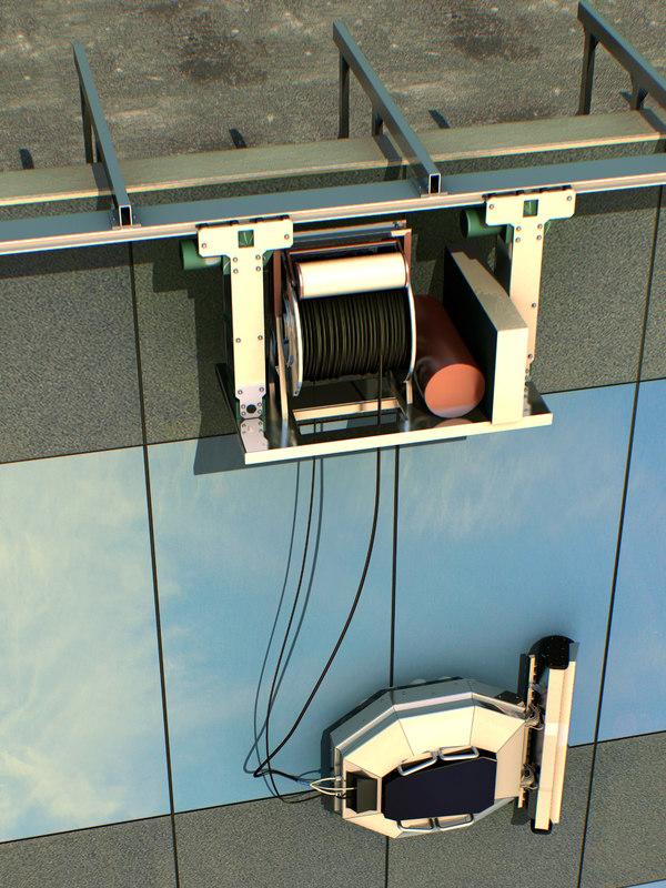3d window robot model