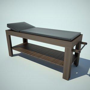 3d massage table model