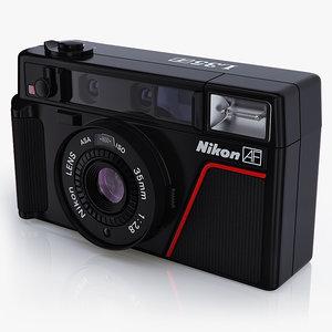 camera nikon l35 af 3d model