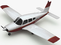 piper arrow airplane 3d max