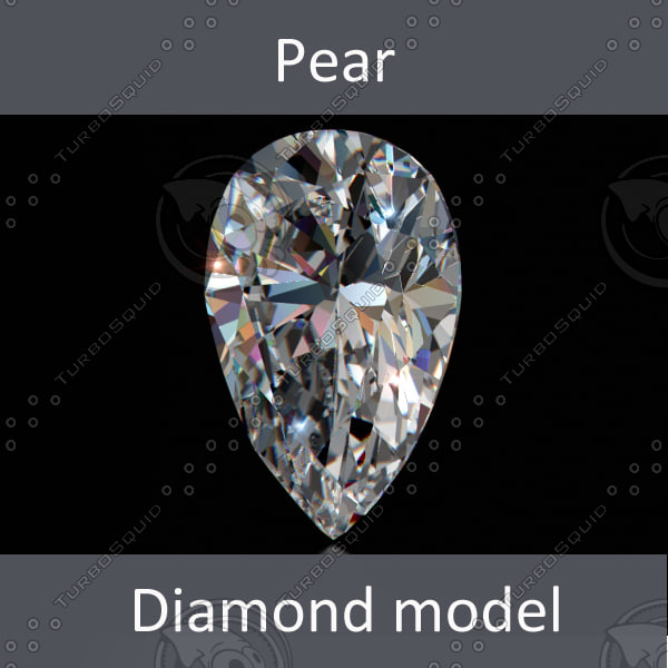 lwo pear diamond cut