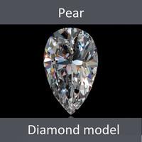 lwo pear diamond cut
