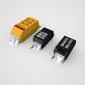 tantalum capacitor component 3d model