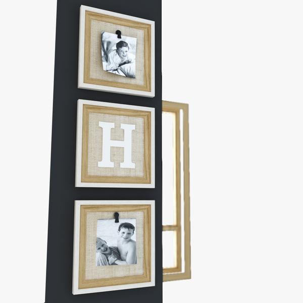 room 3 frames 3d model