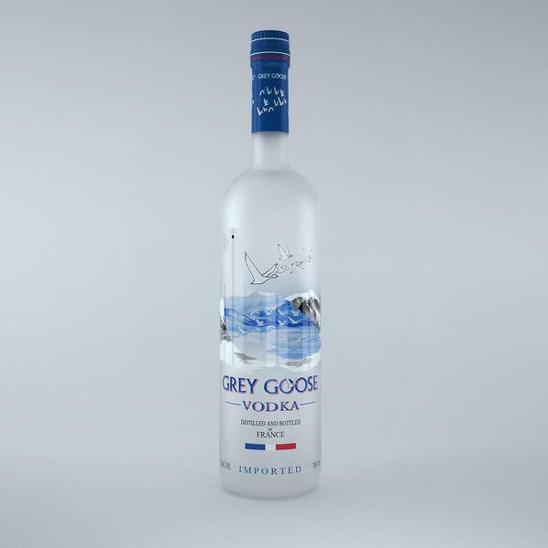 grey goose vodka bottle 3d max