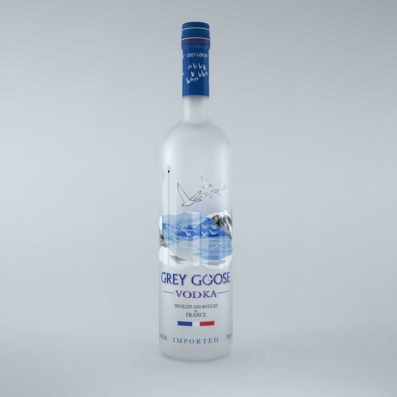 grey goose vodka bottle 3d max