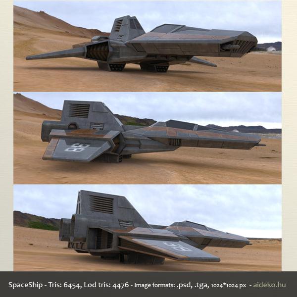 spaceship space ship 3d fbx