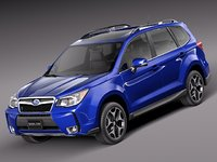 2013 2014 suv subaru forester 3d model