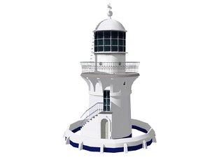 sugarloaf point lighthouse 3d 3ds