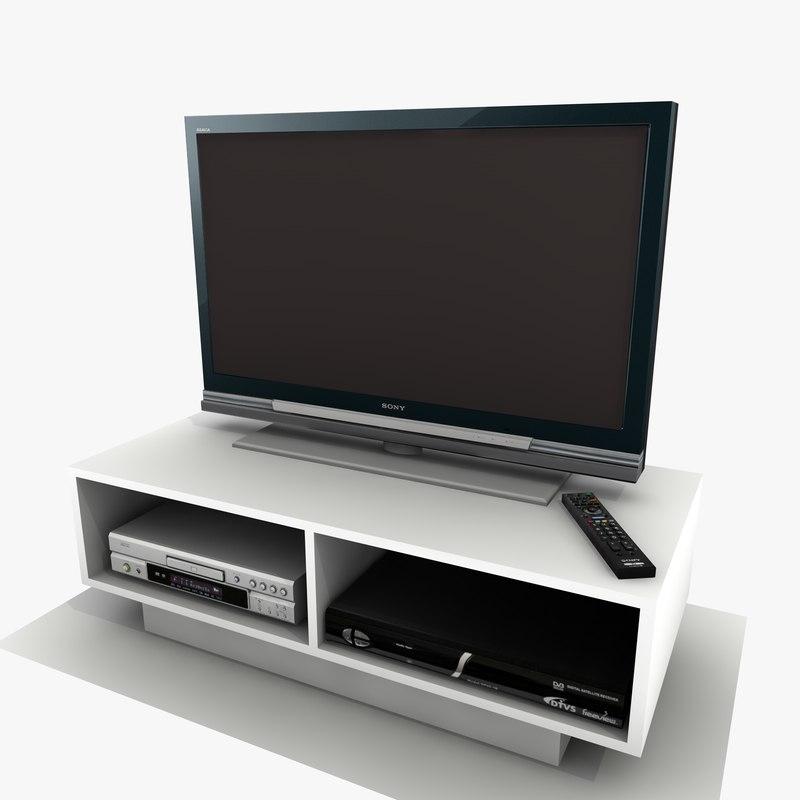 white tv cabinet 3ds