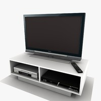 white tv cabinet 3ds
