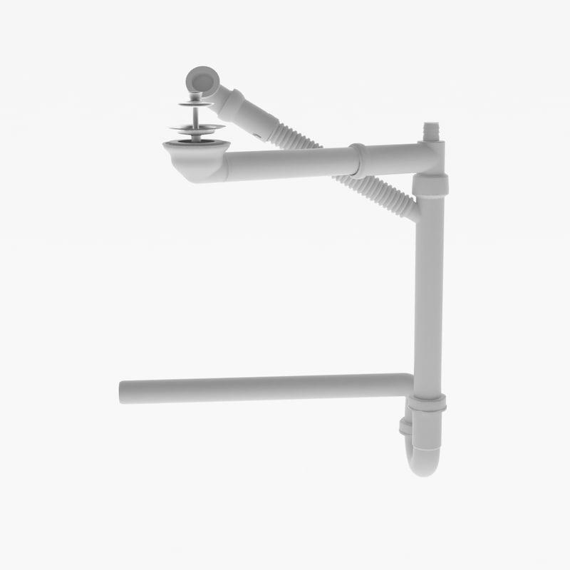 3d water trap model