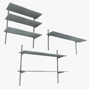 3dsmax metal wall shelving units