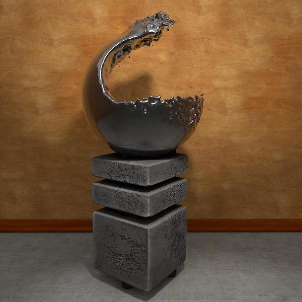 plastic sculpture water 3d model