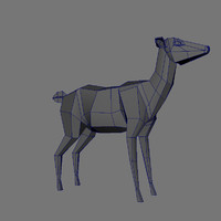 obj low-res female deer