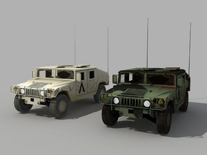 military humvee 3d 3ds