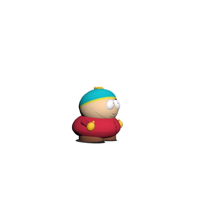 3d eric cartman model