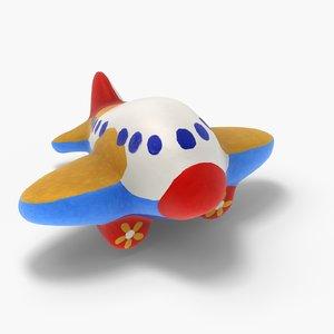 3ds max gypsum toy airplane