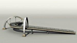 3d model highway bridge