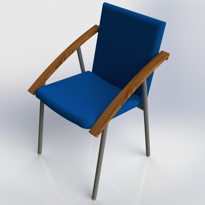 chair stool 3d max