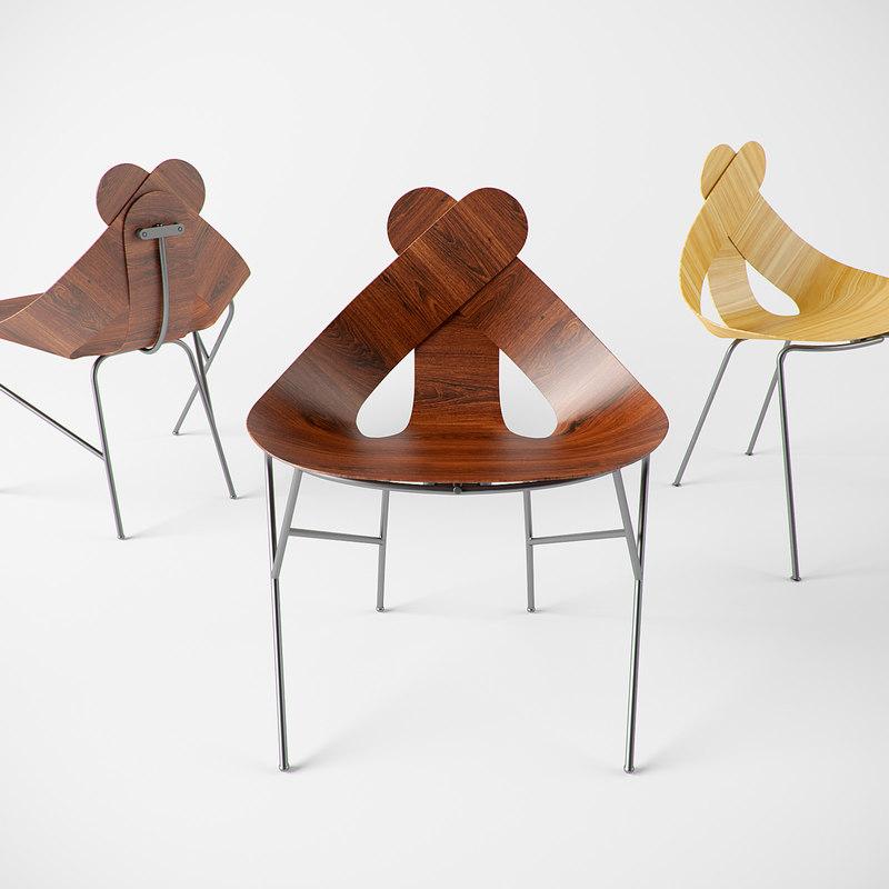 lucky love chair 3d max