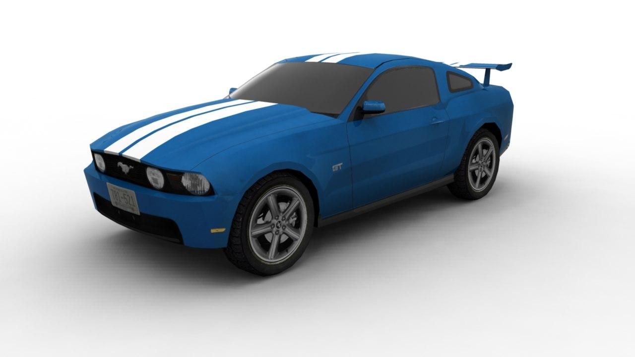 fast car 3d obj