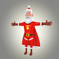 cartoon super santa 3d max