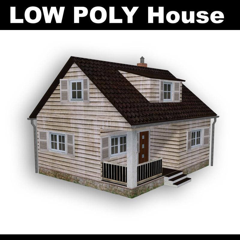wooden house obj