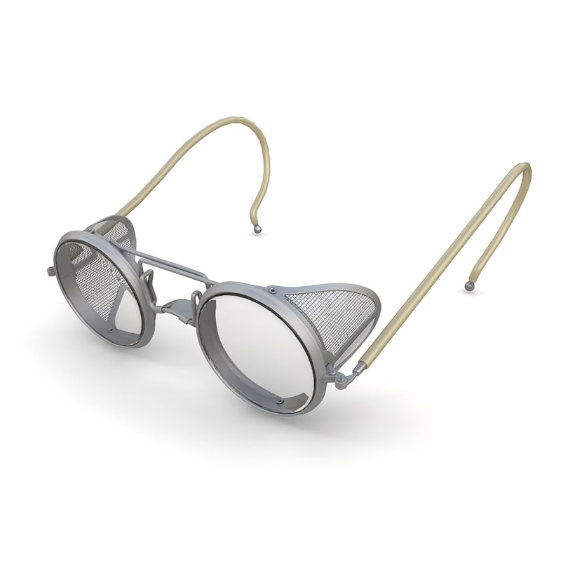 retro safety glasses 3d 3ds