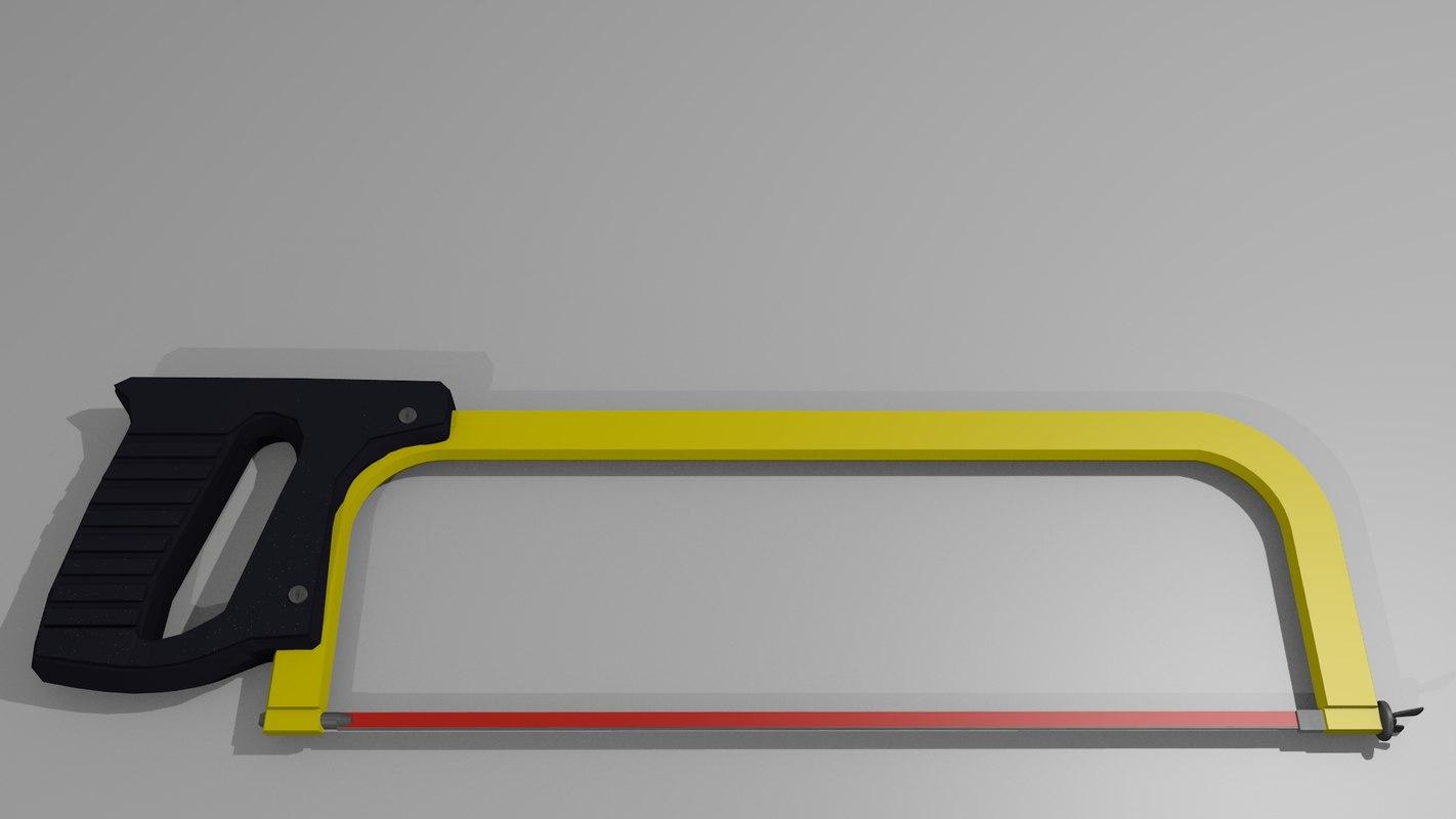 hacksaw tool 3d 3ds