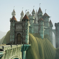 3d model castle environment