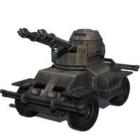 3d cute tank model