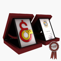 3d model of award plaque