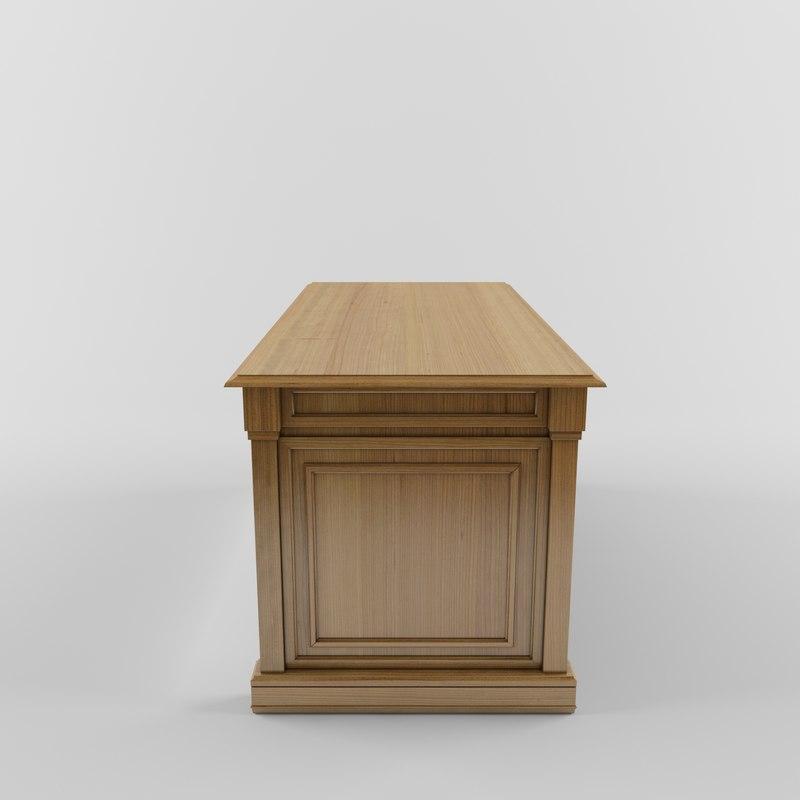 3d classic table desk