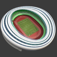 3d model stadium football ball