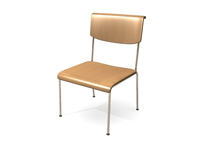 simple classroom chair 3d 3ds