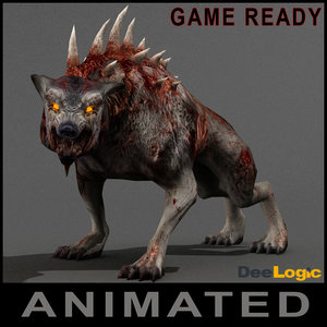 3d model werewolf horrific animations