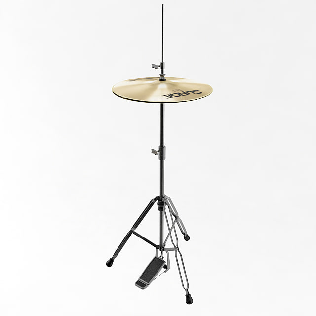 3d model hi hat cymbal