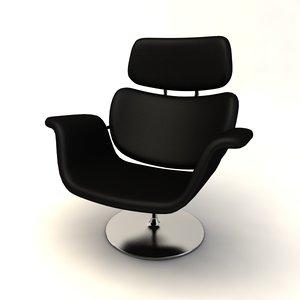 armchair chair tulip c4d