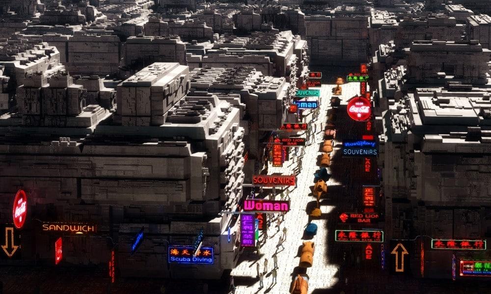 3d model blocks 2 suburbs sci-fi