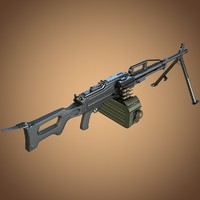 p pecheneg machine gun 3d model